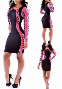 Mini Bodycon Long Sleeves Sheath Dress