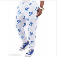 100 Emoji Limited Edition Unisex Joggers Sweatpants - Blue Emoji Jogging pants, emoji sweat pants