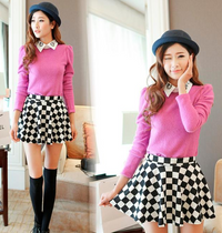 Black and White Dot Mini Skater's Skirt