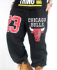 Chicago Bulls 23 Thick Fleece Sweatpants Black BrytCouture special