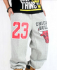 Chicago Bulls 23 Thick Fleece Sweatpants Grey
