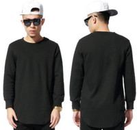 BrytCouture Hip Hop Celebrity Extended Long Sleeves Streetwear T-Shirts - Black