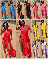 Maxi High Side Slit Bandage Women Dress