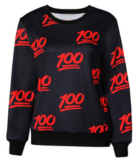 Limited Edition Keep It 100% Emoji Sweatshirt Black
