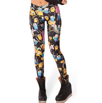 Adventure Time Montage Leggings