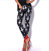 Black Milk Upside Down Cross Leggings BrytCouture