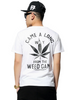 """""""Came A Long Way From The Weed Game"""" Men Hiphop T-Shirt White"""