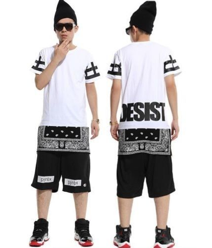 Cease desist paisley tyga bandana extended t shirt white thecheapjerseys Image collections