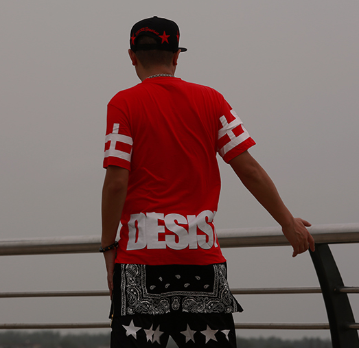 Cease desist paisley tyga bandana extended t shirt red see 3 more pictures altavistaventures Choice Image