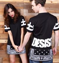 CEASE DESIST Paisley Tyga Bandana Extended T-Shirt Black