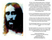 Adorable Jesus Prayer Card