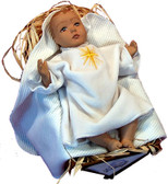 Soft Saint Doll--Baby Jesus in the Manger