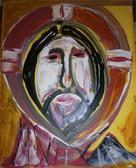 "Icon St. Jerome (16"" x 24""). Original Acrylic on Canvas by Artist Joseph Matose IV"