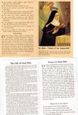 Saint Rita Prayer Card