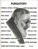 "St.Gertrude's Purgatory Prayer with Original Image of St. Pio, Laminated, 8 1/"" x 11"""