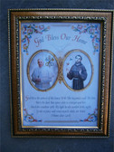 Pope Francis and St Francis Framed Print with and God Bless Our Home prayer