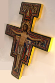 Hand Crafted 16 inch Wooden Wall San Damiano Crucifix