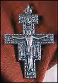 "2"" Nickle Silver San Damiano Crucifix Necklance (Pendant) on cord"