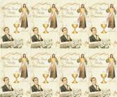 Custom Print Divine Mercy Jesus with boy-First Communion Holy Cards (Custom set of 8)