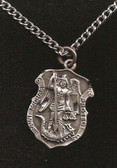 Pewter Saint Michael Badge Pendant 2