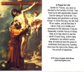 Prayer to St. Francis for Life Card