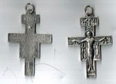 1.5 inch pewter San Damiano Crucifix from Assisi