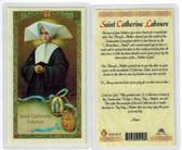 St. Catherine Laboure, Laminated prayer card