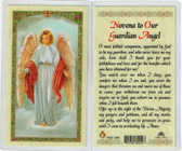 prayer to your Guardian Angel, Laminated prayer card