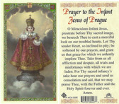 prayer to the Infant Jesus of Prague, laminated prayer card