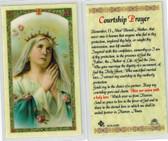 Mary Praying Courtship prayer, Laminated prayer card