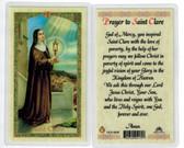 Prayer to St. Clare, Laminated prayer card