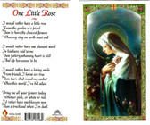 Mystical Rose, one Little Rose, laminated prayer card