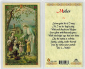 Mother, laminated prayer card