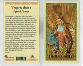 Laminated Prayer Card of Saint Anna de Beaupre