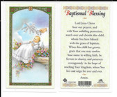 Laminated Card Prayer Baptismal Blessing.