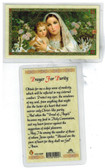 Laminated Prayer Card Prayer for Purity.