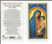 "Laminated Prayer Card ""Novena to Our Lady of Guadalupe for the Unborn""."