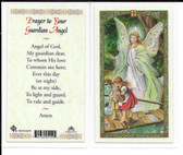 "Laminated Prayer Card ""Prayer to Your Guardian Angel""."