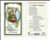 "Laminated Prayer Card ""Patrick's Breastplate""."