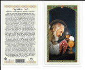 "Laminated Prayer Card of St. Pio ""Stay with me Lord ""."