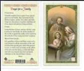 Laminated Prayer Card for a Family Prayer.