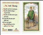 "Laminated Prayer Card St. Patrick ""An Irish Blessing""."