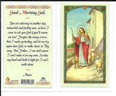 "Laminated Prayer Card ""Good Morning God""."
