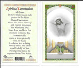 "Laminated Prayer Card ""Spiritual Communion""."