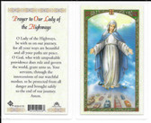 Laminated Prayer Card Prayer to Our Lady of the Highway