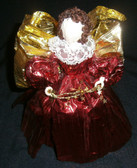 Red and Gold Foil Angel Tree Top or Table Top Style