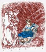 Birth of Christ, Original Print by Tvrtko Klobucar, Canadian artist.