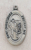 Saint Christopher Hockey Boy Medal On Chain