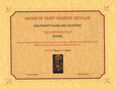 Franciscan Profession Certificate