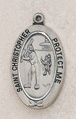 Saint Christopher Softball Medal On Chain